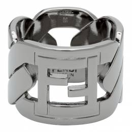 Fendi Black Forever Fendi Chain Ring 7AJ255 B08