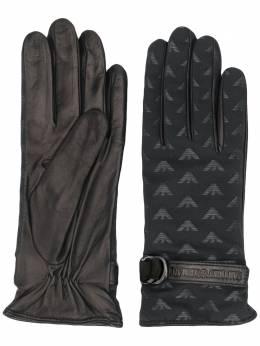 Emporio Armani перчатки с логотипом 6341770A203