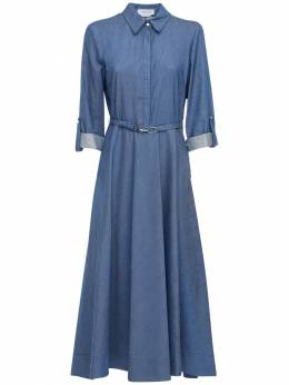Cotton Denim Shirt Dress Gabriela Hearst 72IGO2014-NDMwIERFTklN0