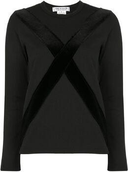 Comme Des Garcons Comme Des Garcons футболка с длинными рукавами и контрастными полосками RFT011051