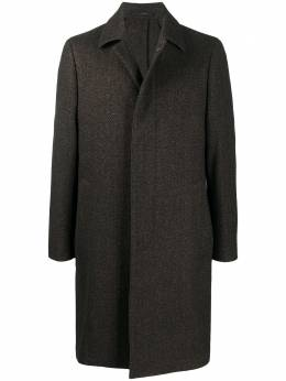 Lardini пальто с заостренным воротником и узором в елочку IM23689ARP55693420NE