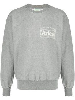 Aries толстовка с круглым вырезом и логотипом SQAR20000