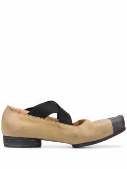 Uma Wang балетки с контрастным носком US9015