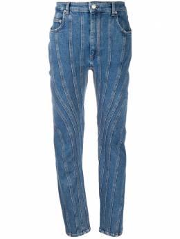 Mugler зауженные джинсы со вставками PA0283242
