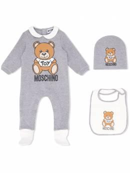 """Moschino Kids """"комплект из комбинезона, шапки и нагрудника"""" MUY033LDA14"""