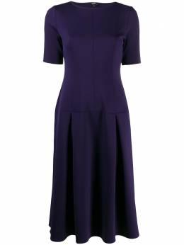 Aspesi платье миди со складками 2908G364