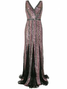 Marchesa Notte платье без рукавов с пайетками N41G1959