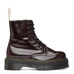 Dr. Martens Burgundy Vegan Jadon 2 Platform Boots 22563600