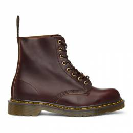 Dr. Martens Burgundy Made In England 1460 Lace-Up Boots 24196606