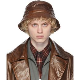 Dries Van Noten Brown Quilted Bucket Hat 20605-1176-703