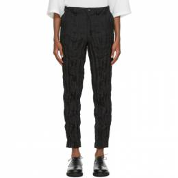 Issey Miyake Men Black Tapered Twist Trousers ME08FF944