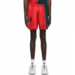 MCQ by Alexander McQueen Red and Green Decon Football Shorts 602581RPT78