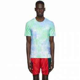 MCQ by Alexander McQueen Blue and Green Tie-Dye T-Shirt 624760RPJ51