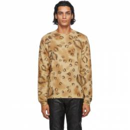 1017 Alyx 9Sm Brown Leopard Long Sleeve T-Shirt AAMTS0178FA01.F20
