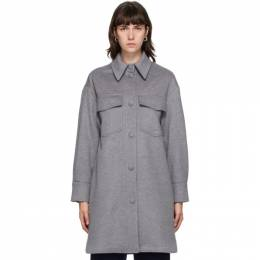 Stella McCartney Grey Wool Kerry Coat 601217SPB11