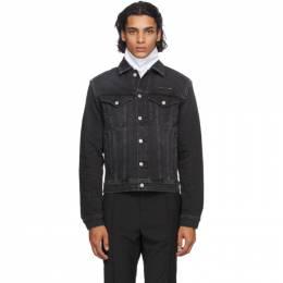 1017 Alyx 9Sm Black Denim Collection Stitching Jacket AAUOU0052FA07.F20