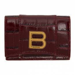 Balenciaga Red Croc Mini Hourglass Wallet 600212-1LRGM