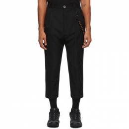 Song For The Mute Black Wool Pleated Trousers 202_MPT037_WGBDBLK