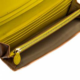 Mulberry Beige Leather Bow Continental Wallet 325824