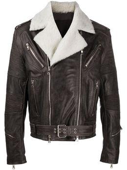 Balmain куртка с подкладкой из овчины UH18170Z332