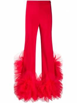 Loulou расклешенные брюки с оборками на подоле SH2010200