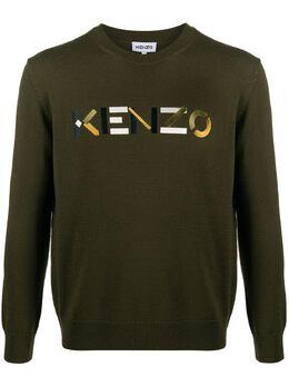 Kenzo джемпер с вышитым логотипом FA65PU5413LA
