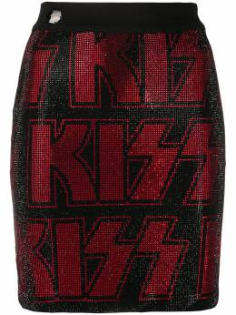 Philipp Plein облегающая мини-юбка Kiss P20CWRV0267PTE003N