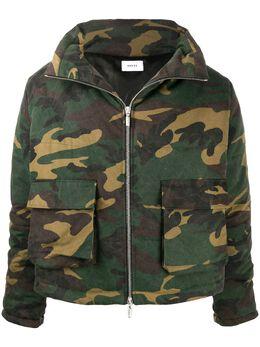 Rhude камуфляжная куртка с капюшоном RHU08PF20096