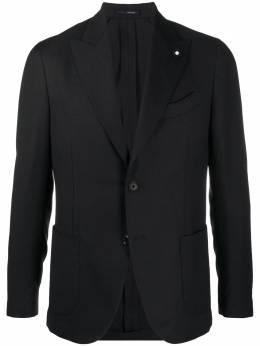 Lardini однобортный пиджак с заостренными лацканами IM688AEC55501999