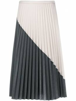 Piazza Sempione colour block pleated skirt PG067P0S3455