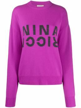 Nina Ricci джемпер с логотипом 20AMPU003ML0460U2672