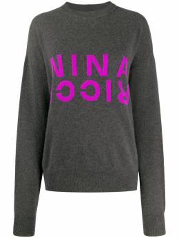 Nina Ricci джемпер с логотипом 20AMPU003ML0460U9304
