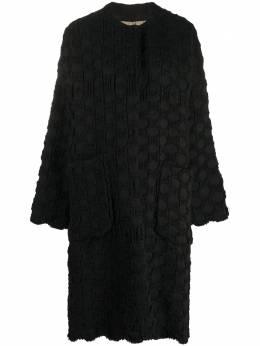 Uma Wang polka dot knit cocoon coat UP8016S04A0UW