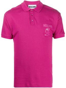 Moschino рубашка поло с логотипом A12027042