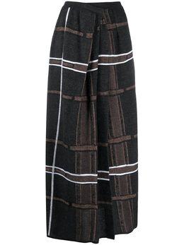 Gentry Portofino клетчатая юбка с запахом D324AW
