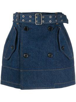 Junya Watanabe джинсовая юбка с поясом S004051