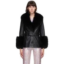 Saks Potts Black Fur Shorty Jacket 49013