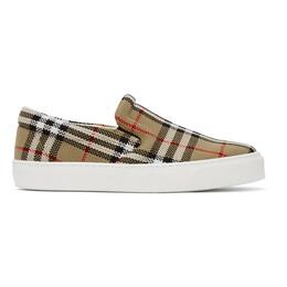 Burberry Beige Thompson Slip-On Sneakers 8032192