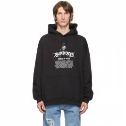 Vetements Black Washed World Tour Hoodie UAH21TR693
