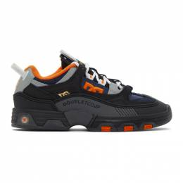 Doublet Black and Orange DC Shoes Edition Hybrid Sneakers 20AW52FT35