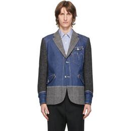 Junya Watanabe Indigo Levis Edition Denim and Wool Selvedge Blazer WF-J005-051