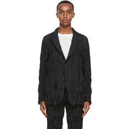 Issey Miyake Men Black Twist Basic Blazer ME08FD941