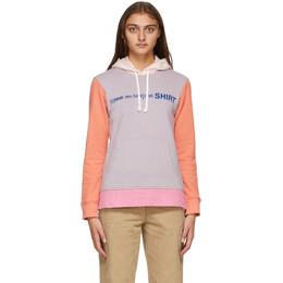 Comme Des Garcons Shirt Purple and Orange Colorblock Front Logo Hoodie W28118