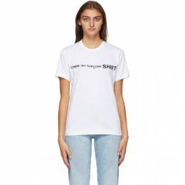 Comme Des Garcons Shirt White Logo T-Shirt W28116