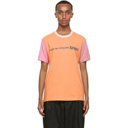 Comme Des Garcons Shirt Multicolor Cotton Logo T-Shirt W28120