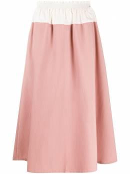Sara Lanzi юбка миди в стиле колор-блок 04CWP2