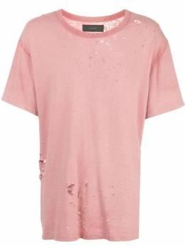 Amiri футболка с эффектом потертости F0M03241CJPCH