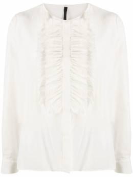 Sara Lanzi блузка с длинными рукавами и оборками 06GCSW