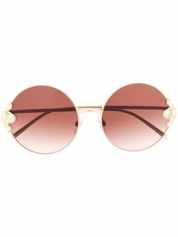 Dolce&Gabbana Eyewear солнцезащитные очки в круглой оправе DG2252H