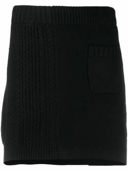 Barrie юбка мини в рубчик C148540